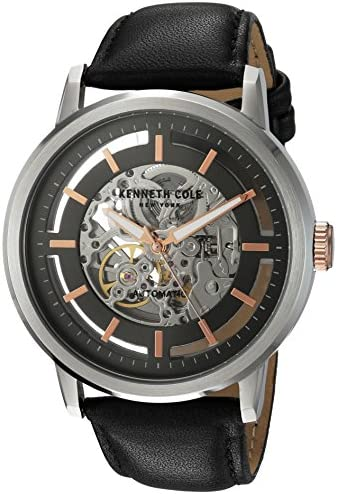 Kenneth Cole New York Men's 10026782 Automatic Analog Display Japanese Automatic Black Watch