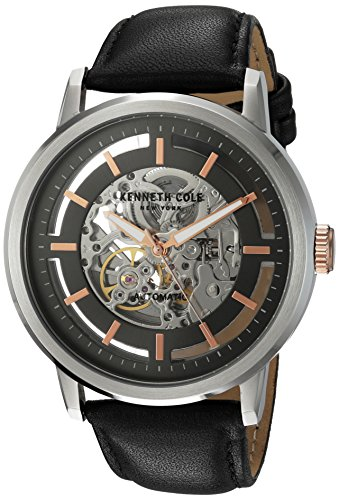 Kenneth Cole Skeleton Watch (Kenneth Cole New York Men's 10026782 Automatic Analog Display Japanese Automatic Black Watch)