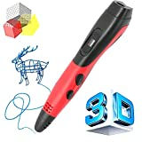 Manve 3D Printing Pen for 3D Modeling Doodling - Prototyping Design and Art Making DIY Kids Adults, Compatible PLA ABS Filament, Bright LED Display
