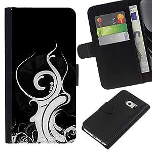 A-type (Diseño tribal) Colorida Impresión Funda Cuero Monedero Caja Bolsa Cubierta Caja Piel Card Slots Para Samsung Galaxy S6 EDGE (NOT S6)