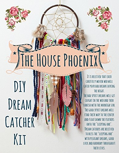 Colorful Make Your Own Dream Catcher Craft Kit. Do It Yourself Home Decor Project In A Box from The House Phoenix