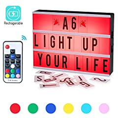 Size:A6(5.8x3.9x1.5inch) The LED cinema light box is A6 size, including 3 lines balustrades to installing letters and marks.It is used to send messages and create signs.  Perfect for adding to a gallery wall, using as a party prop or personal...