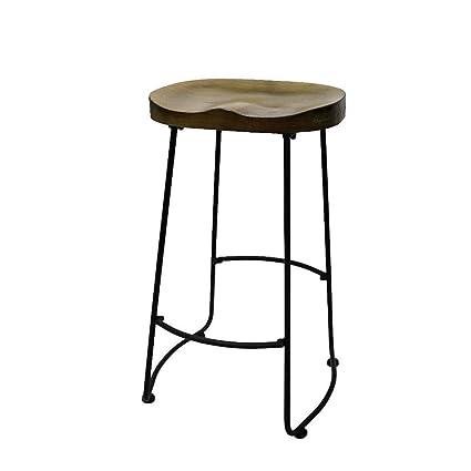 Groovy Amazon Com Galapagoz Industrial Metal Bar Stool Wood Seat Inzonedesignstudio Interior Chair Design Inzonedesignstudiocom