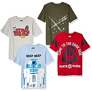 Amazon Brand – Spotted Zebra Boys Disney Star Wars Marvel Short-Sleeve T-Shirts