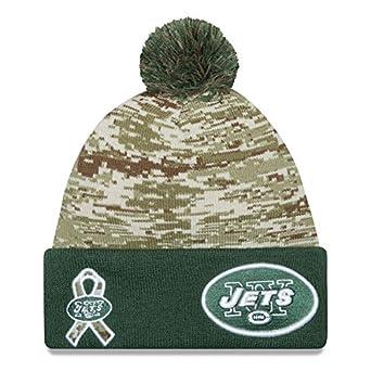 on sale f2d56 7cbff New Era Men s NFL 2015 New York Jets Salute to Service Knit Hat Digi Camo  Size