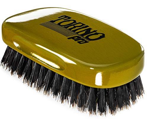 Torino Pro Wave Brush #1440 - By Brush King - Firm Medium, 13 Row Square Palm/Military 360 Waves Brush