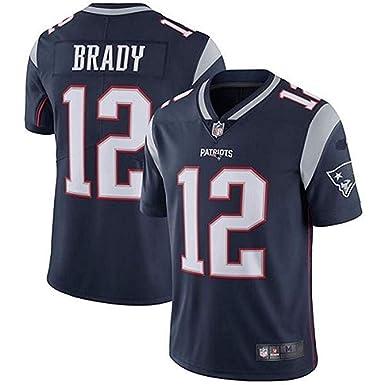 new concept 0938d 41df3 Men's Tom Brady #12 New England Patriots Limited Navy Blue Stitch Jersey  (XL)