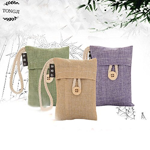 Purifying Bag ,TongJi Mini Natural Air Purifying Bamboo Charcoal Deodorizer Bag Portable Air Freshener for Fridge,Freezer,Closet,Car and Shose,Clear the Formaldehyde of Indoor Decorate (Portable Fridge Bag)
