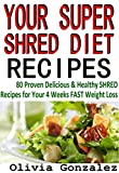 YOUR SUPER SHRED DIET RECIPES: (80 Proven Delicious & Healthy Shred Recipes for Your 4 Weeks FAST Weight Loss)