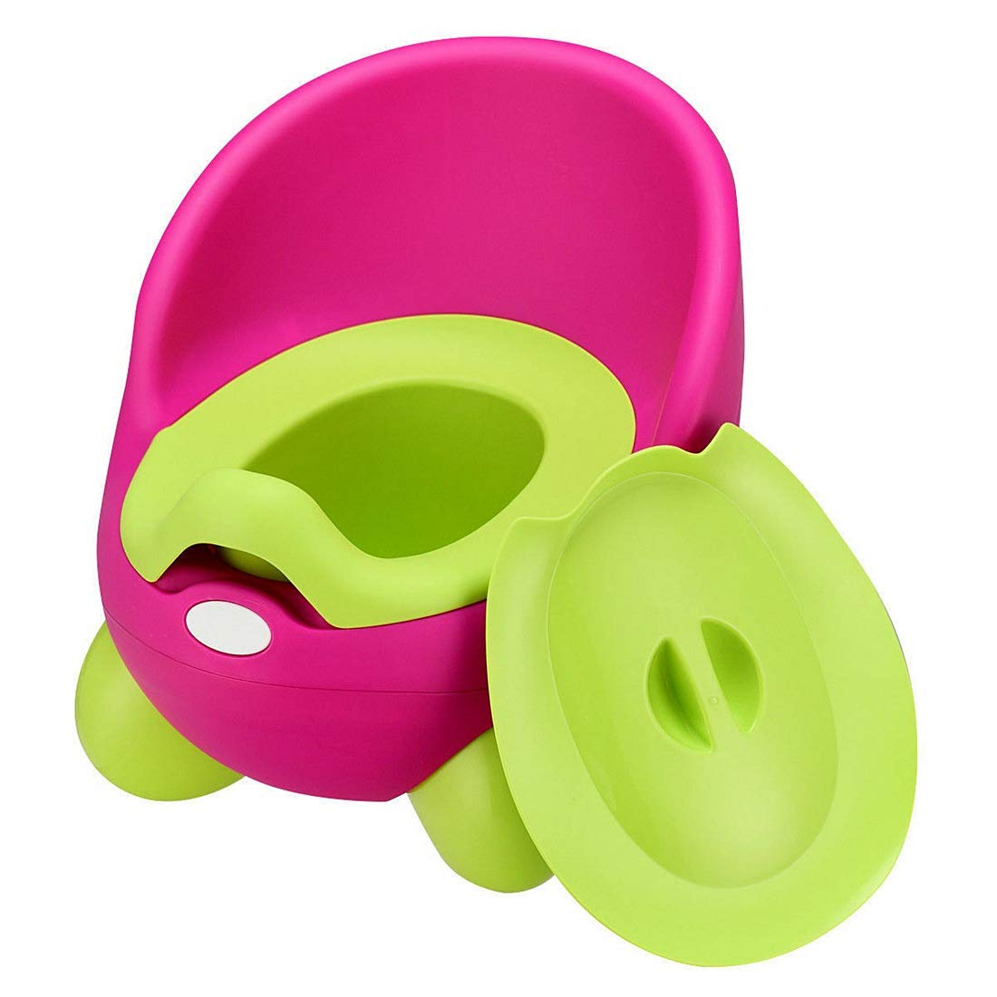 Lucidz Toilet Chair Training Toddlers Potty Splash Guard Detachable Seat Boys Girls Travel Potties Pink & Green