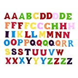 Healifty Felt Alphabet Fabric ABCs Toy for DIY Craft Kids Christmas Birthday Party Decor 50pcs (Mixed Color and Letters)