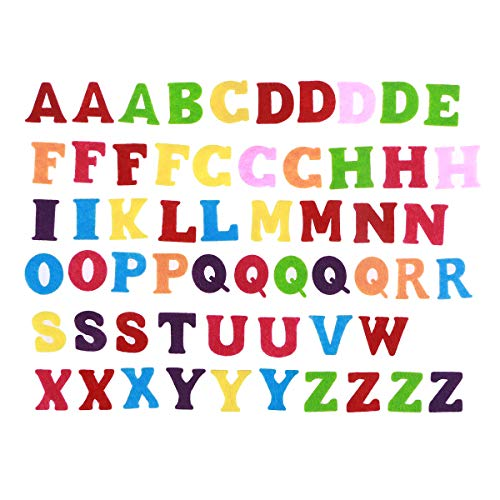 Healifty Felt Alphabet Fabric ABCs Toy for DIY Craft Kids Christmas Birthday Party Decor 50pcs (Mixed Color and ()