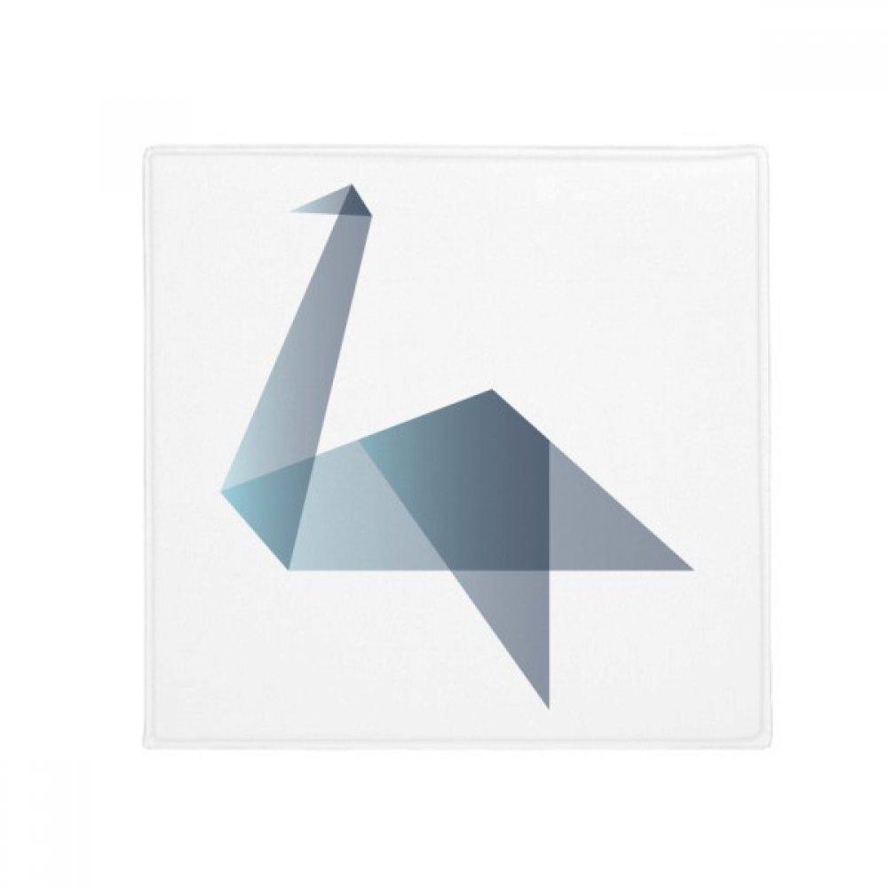 DIYthinker Origami Abstract Duck Geometric Shape Anti-Slip Floor Pet Mat Square Home Kitchen Door 80Cm Gift
