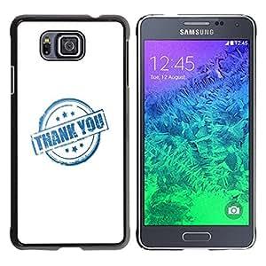 Dragon Case - FOR Samsung ALPHA G850 - thank you all - Caja protectora de pl??stico duro de la cubierta Dise?¡Ào Slim Fit