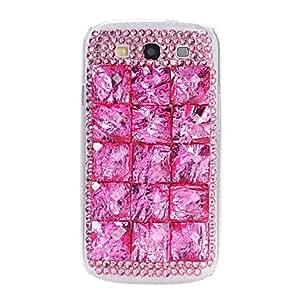 HC-Diy 3d piedra rhinestone cristal de color rosa caja de plástico de color para la galaxia s3 i9300