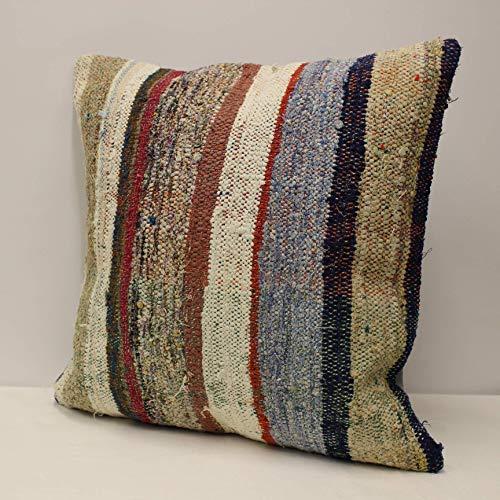 Throw Pillow Bohemian Carpet Pillow Handmade Kilim Pillow,60X40 cm 23.62X15.74 inches Decorative Kilim Pillow Kilim Pillow Cover