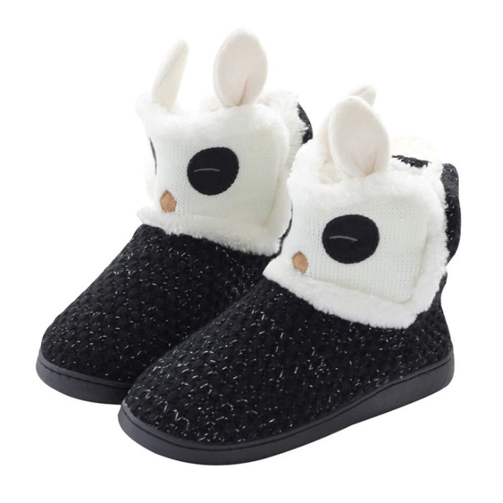 ... Zapatillas para Mujer Zapatillas de Interior Zapatillas de casa Botas cálidas de Invierno Botines Blancos y Negros (tamaño : 43-44): Amazon.es: Hogar