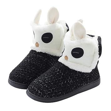 ... Zapatillas para mujer Zapatillas de interior Zapatillas de casa Botas cálidas de invierno Botines blancos y negros zapatillas de cas: Amazon.es: Hogar