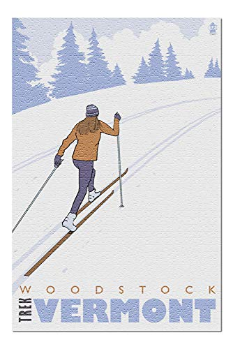 Cross Country Skier - Woodstock, Vermont (20x30 Premium 1000 Piece Jigsaw Puzzle, Made in - Woodstock Cross