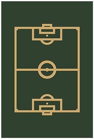 Wallario Poster Fussball Fussballfeld Gezeichnet In Grun