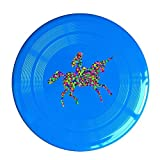 LINNA Unisex Woman Riding Unicorn Outdoor Game, Sport, Flying Discs,Game Room, Light Up Flying, Sport Disc ,Flyer Frisbee,Ultra Star RoyalBlue One Size