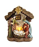 Creative Co-op XM0984 O Holy Night 4.5'' H Resin Holy Family in Nativity with LED Light