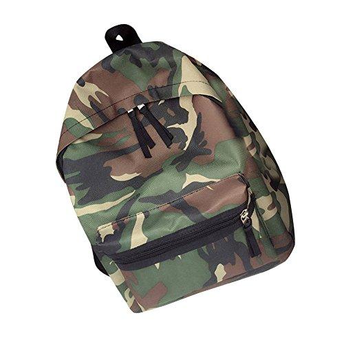 Desigual Women Bags Backpack LuluZanmWomen Girls Boys Camouflage Zipper Backpack School