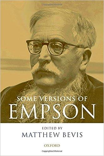Gratis pdf gk bøker nedlasting Some Versions of Empson på norsk MOBI 0199286361 by Matthew Bevis