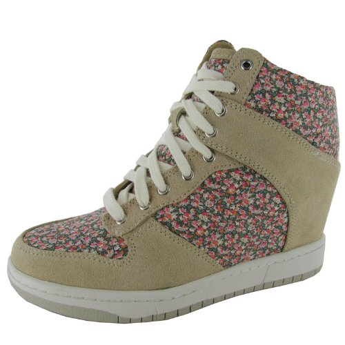 Steve Madden Womens 'Lymlight' Fashion Sneaker Shoe, Natural Multi, US 8
