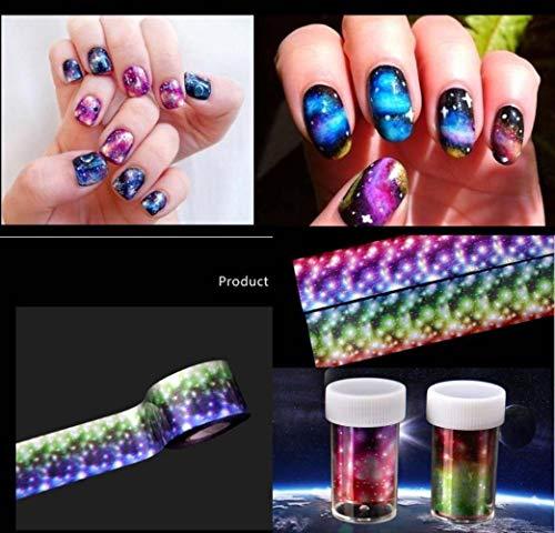 4120cm Holographic Foils Starry Sky Glitter Foils Nail Art Transfer Sticker 16Rolls/lot Midnight Nail Transfer foil