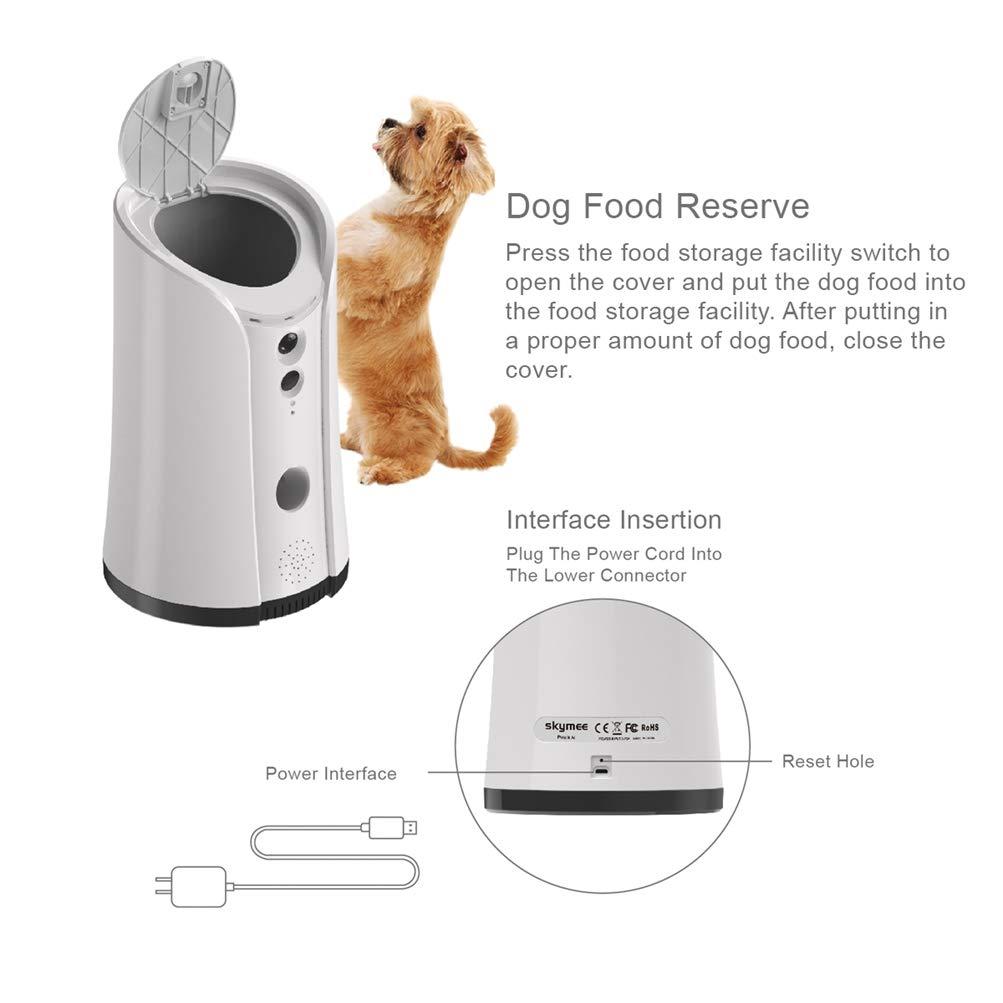 Venidice skymee 2-Way Audio Dog Camera, Night Vision Pet Camrea, WiFi Remote Control for Treat Dispenser Cleaning Cloth by Venidice (Image #4)