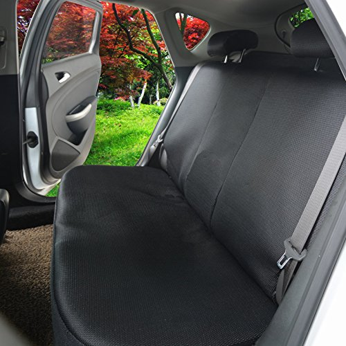 WOLTU Car Seat Covers black and green Full Set 5 Seaters Universial for Cars