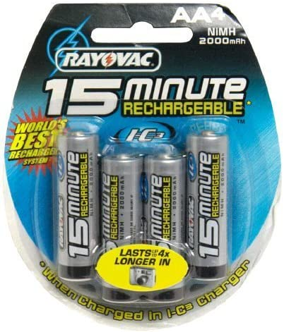 Rayovac I-C3 15 Minute Rechargeable Batteries Discontinued by Manufacturer AA 4 batteries