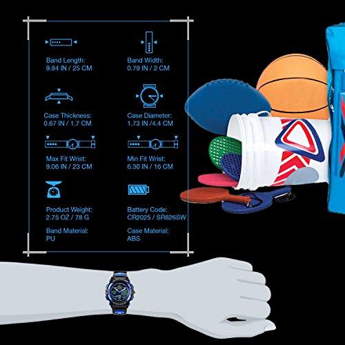 Kids Sports Digital Watch, Boys Girls Outdoor Waterproof Watches Children Analog Quartz Wrist Watch with Alarm - Blue by cofuo (Image #6)