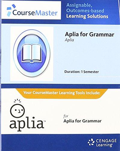 Aplia For Grammer Coursemaster Access