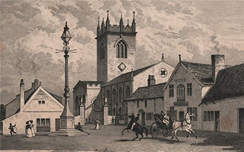 st-elphins-church-warrington-rebuilt-1859-ring-obells-pub-harwood-1829-old-print-antique-print-vinta