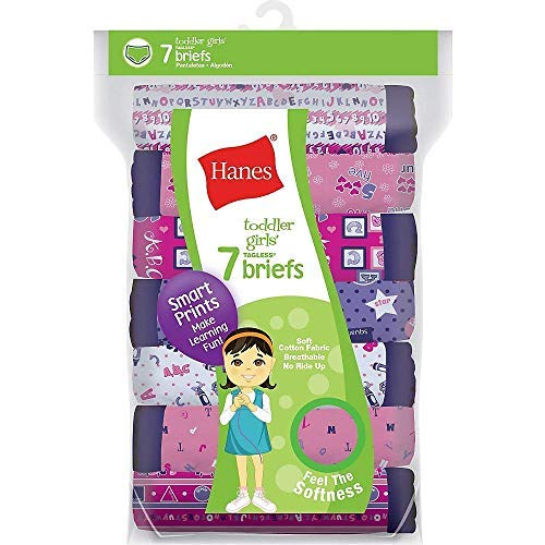Hanes Tagless Toddler Girls Days of the Week Pre-Shrunk Cott