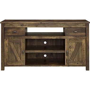 Ameriwood Altra Farmington TV Stand, Century Barn Pine, 60 , Coffee House Plank/White