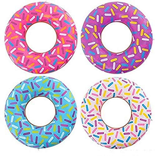 SHOP AND GATHER 6 Jumbo Frosted Donut Doughnut Shape Beach Ball Pool Toys Luau Blow up