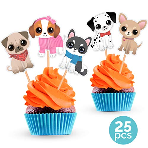 Littlest Pet Shop Cupcake Toppers (Dog Cupcake Cake Toppers - Puppy Pet Theme Birthday Party Decorations Supplies - 25)