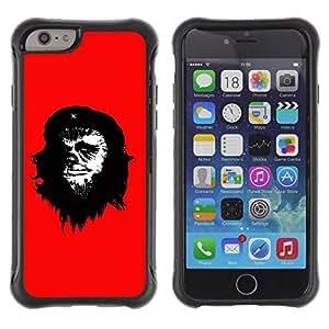 "Pulsar iFace Series Tpu silicona Carcasa Funda Case para Apple iPhone 6+ Plus(5.5 inches) , Che Guevara Caricatura Arte de la pintura del hombre del mono"""