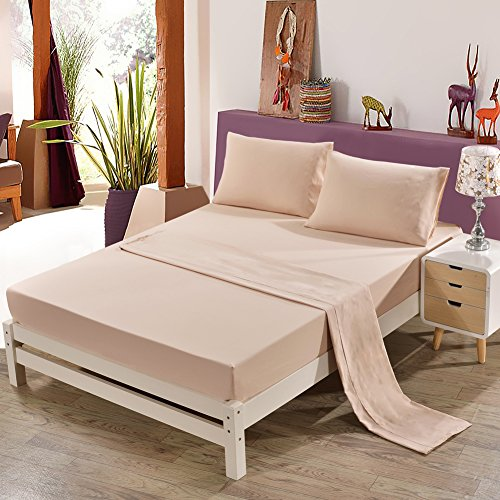 Cheap King Size 4 Piece Bed Sheet Set - 1800 Series Platinum Collection - 100% Brushed Microfiber Bedding Set - Deep Pocket,Wrinkle,Fade,Stain Resistant & Hypoallergenic - Beige hot sale