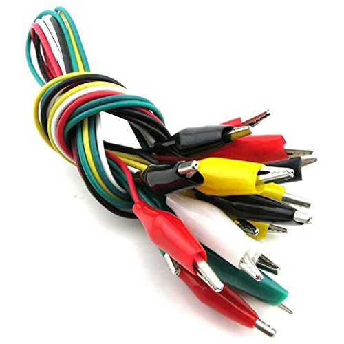 10pcs Alligator Clip Wires Test Leads Set with Alligator Clips Double-Ended Cables Connectors Jumper Wire Multicolor