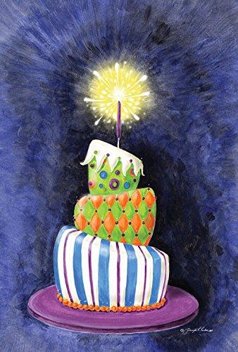Toland Home Garden Sparkling Birthday Present Cake 12.5 x 18 Inch Decorative Party Garden Flag