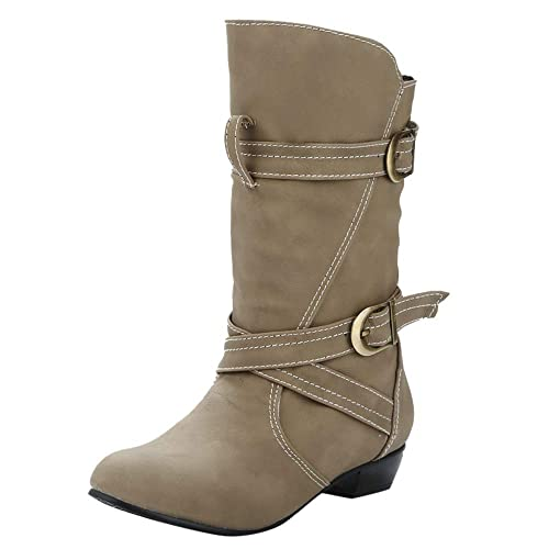 Botas Mujer Invierno, Modaworld Botas de Nieve de Plataforma Botas Altas de Mujer Zapatos de Felpa de algodón Medias Botas Altas Botines de Encaje 35-39: ...