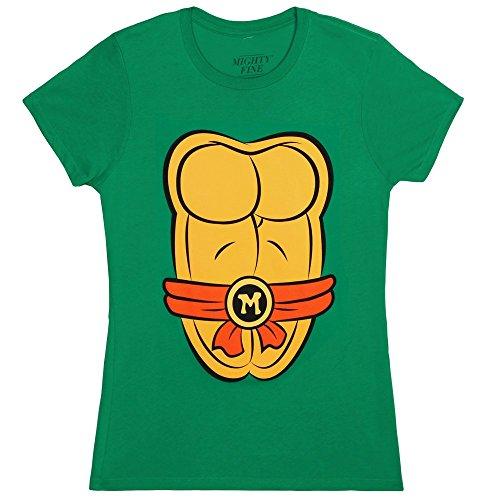 Ninja Turtle Shirts For Women (Teenage Mutant Ninja Turtles Juniors Costume T-Shirt - Michelangelo (Medium))
