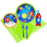 Rocket to Space Party Supplies Pack with Favor Cups (16)