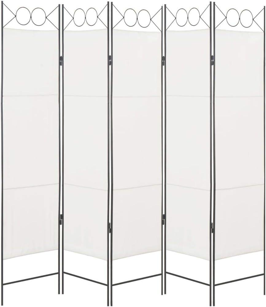 vidaXL - Separador de ambientes (5 Unidades) Biombo Plegable para Pared de Dormitorio, Color Blanco, 200 x 180 cm: Amazon.es: Juguetes y juegos