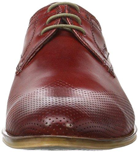 Bugatti 312234011100, Zapatos de Cordones Derby para Hombre Rot (Red 3000)