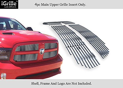 - APS Fits 2013-2018 Ram 1500 Stainless Steel Billet Grille Grill Inserts Chrome Polished #D65919S